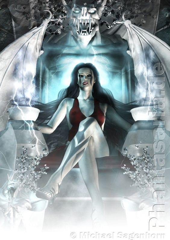 Fantasy Art - Girl Dark Princes
