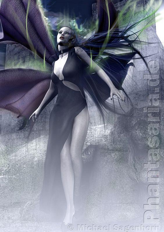Fantasy Illustration Dark Fairy